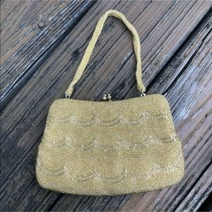 Vintage Beaded Purse Handbag Evening Bag 50s 60s